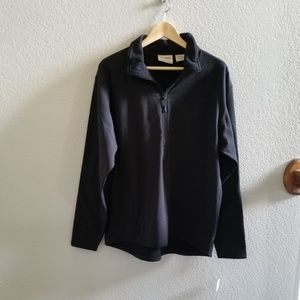 **Fleece 3/4 Zipper Front Jacket with pockets